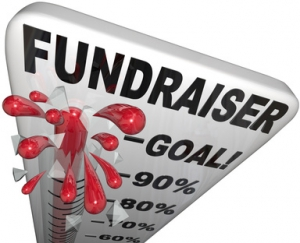Fundraiser Thermometer Tracks Goal Reached Success